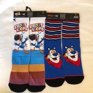 odd sox Underwear & Socks - Odd Sox FROOT LOOPS/TONY TIGER SOCKS